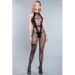 Wine And Rose Petals Bodystocking_E33X111D__1908-BLACK-OS