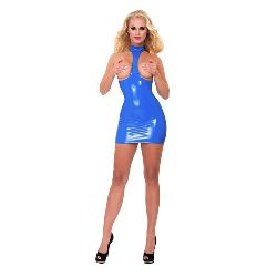 GP Datex Exposure Kleid blau mit Kragen_E41X09D__710009BLUS